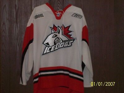 timeless design 6174c 097c3 Mississauga Icedogs Away Jersey Minor League Hockey NHL, ECHL, AHL, OHL
