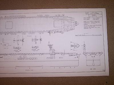 USS SANGAMON CVE 26 ship model plan