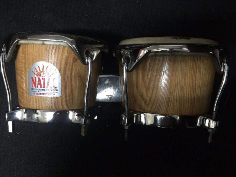 Vintage Natal Professional Super Latin Percussion Bongo Drums- Made In England