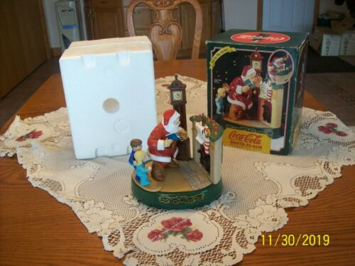 Coca-Cola Santa Mechanical Fireplace Christmas Bank Coke 1995 3rd in Series