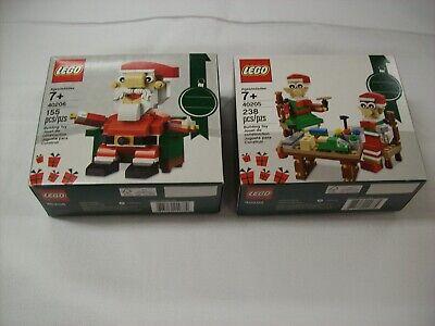 LEGO 40206 40205 NEW Christmas Santa and Elf's Sealed Box