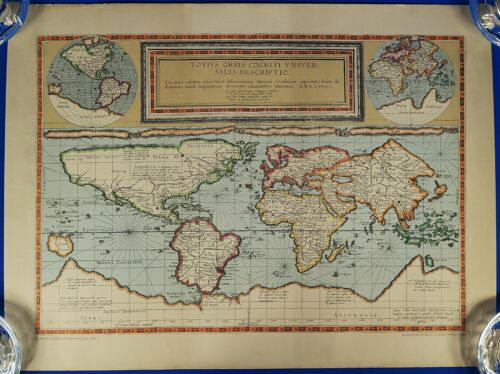 The World by Gerard and Cornelis de Jode 1589, Reproduced by Rand Mcnally
