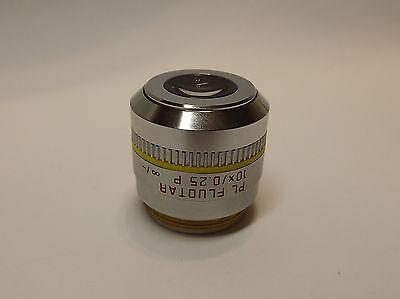 Leica Pl Fluotar 10x0.25 P - Pol Microscope Objective Lens