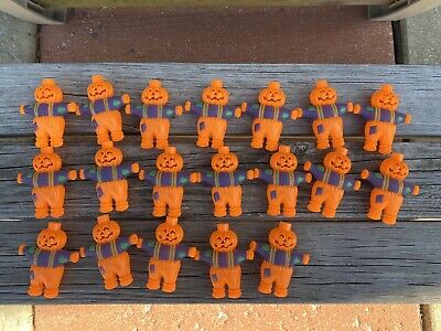 Vintage Pumpkin Scarecrow Jack O Lantern Blow Mold String Light Covers Lot Of 19