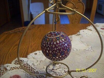 Mosaic Handmade Round Vintage Beauitful Christmas Tree Ornament Art Work ()