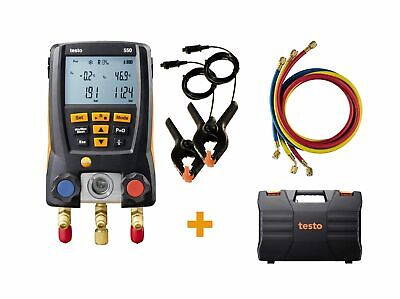 Testo 0563 2550 550 Digital Manifold Kit With Bluetooth And 3 Hoses