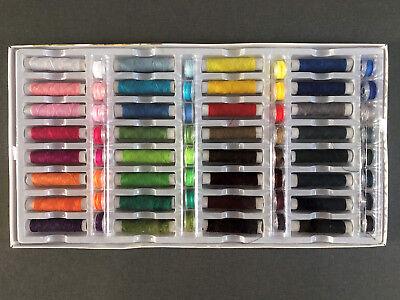 NEU 64 Teile Nähgarn Set Nähmaschinengarn Farbset Faden Spule Nähzeug Nähset Box
