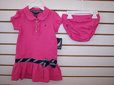 Infant/Girls $32.50 Nautica Navy, White, or Pink Polo Style Dress Sizes 12mo-12