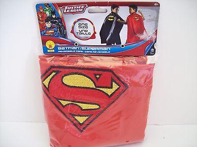 Batman Superman Reversible One Size Ages 6+ Cape - New