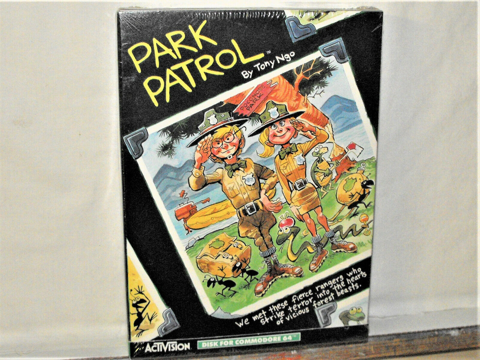Computer Games - Commodore 64 Computer Game PARK PATROL Activision Disk Software Sealed Box 1984
