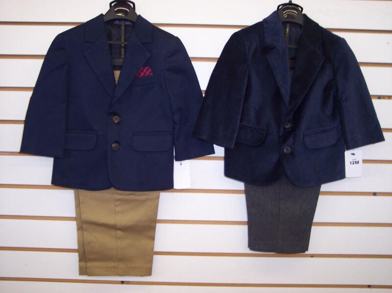 Infant Boys 2pc Navy Suits Size 0/3 Months - 24 Months