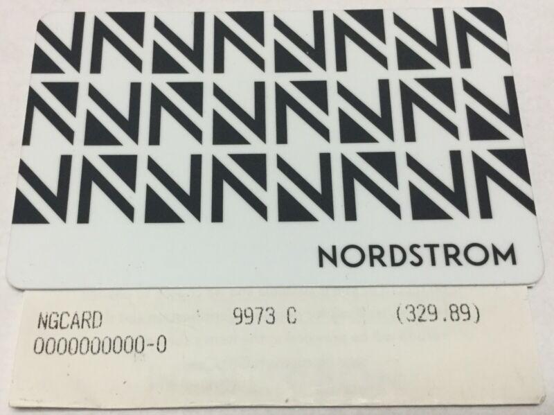Nordstrom $329.89 Gift Card