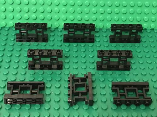 LEGO LOT OF 12 BLACK SPINDLED FENCES WITH 2 STUDS ON TOP