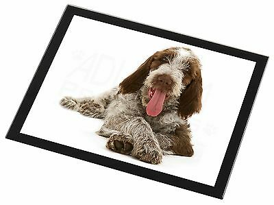 Italian Spinone Dog Black Rim Glass Placemat Animal Table Gift, AD-SP2GP
