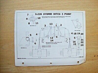 Mott Hammer Knife Mower X-228 Hybrid Hitch 3 Point Instruction Parts Manual 1962