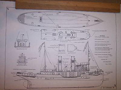 LACKAWANNA railroad tug boat ship boat model boat plans