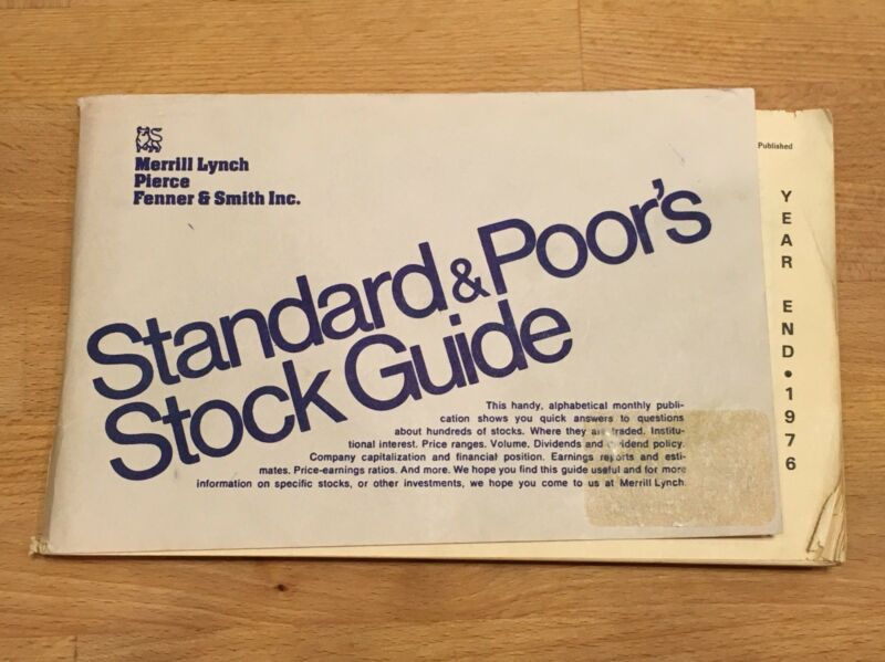 1978 Year End Standard & Poor