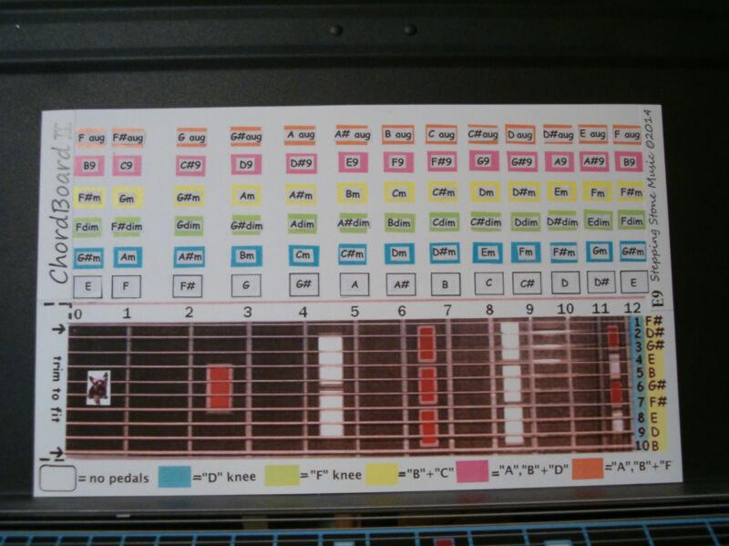 "NEW ""ChordBoard II"" for Pedal Steel Guitar E9th tuning"