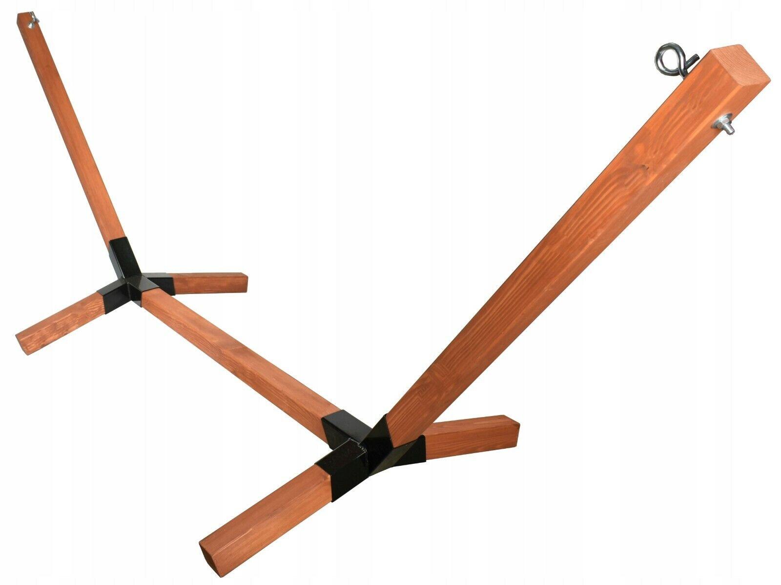 Hängemattegestell Gestell Holzgestell Hängeliege Stabil bis 300kg HOLZ Mahagoni