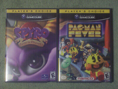 NINTENDO GAME CUBE LOT OF (2) SPYRO: ENTER THE DRAGONFLY & PAC-MAN FEVER 2002