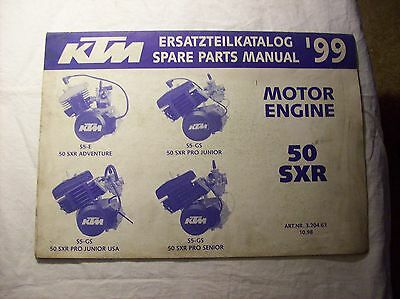 KTM Spare Parts Manual Ersatzteilkatalog 99 Motor Engine 50SXR