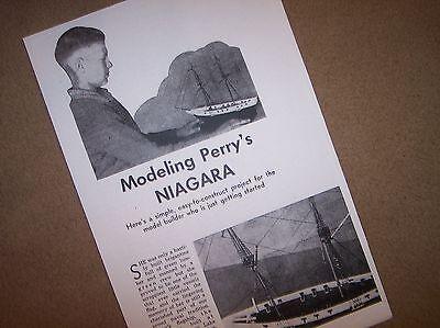 BRIG NIAGARA model boat ship plans