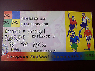 TICKET EURO 96 DANEMARK - PORTUGAL 9/6/96