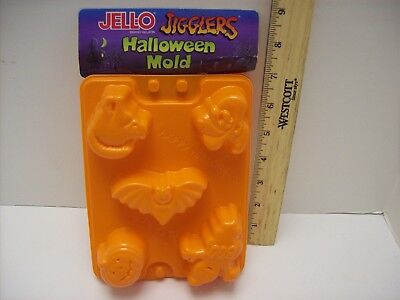 Halloween Ghost Recipes (2 Jell-O  NEW Jigglers Molds w/ Recipe Halloween Witch Pumpkin Bat Ghost &)