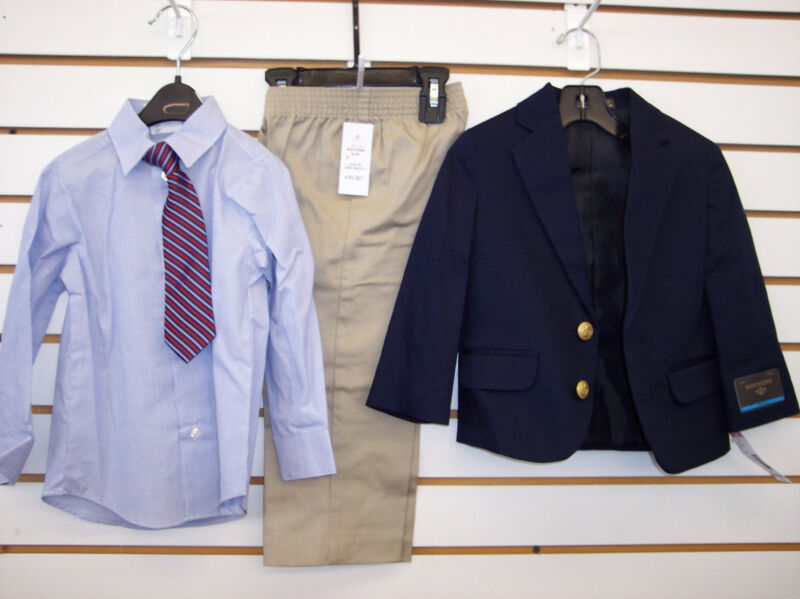 Infant & Toddler Boys $64.00 Dockers Navy & Khaki 4-Pc Suit Size 2T
