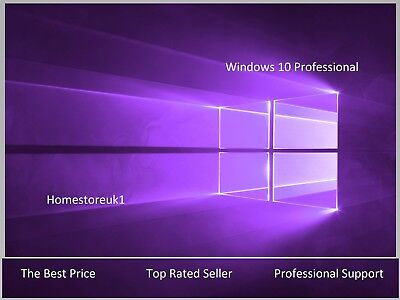 Windows 10 Pro Professional Oem Key Code 32 64Bit Digital Content Microsoft Ms
