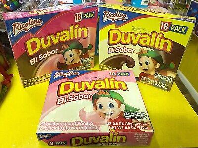Mexican Candy Ricolino Duvalin 3 Pack - Hazelnut Strawberry Vanilla, 54 -