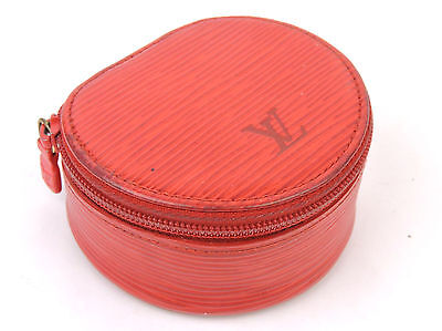 AUTHENTIC LOUIS VUITTON RED EPI LEATHER ECRIN BIJOUX 8 JEWELRY CASE MADE FRANCE