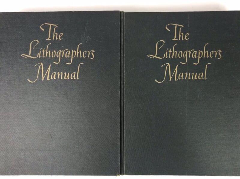 The Lithographers Manual Vol 1 & 2 Waltwin HC 1958 20th Anniv Ed  VTG Ads! #H