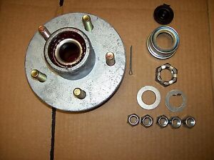 Boat Trailer Galvanized 3500lbs Hub 5 on 4.5 Bolt Lug with Greased Bearing Kit