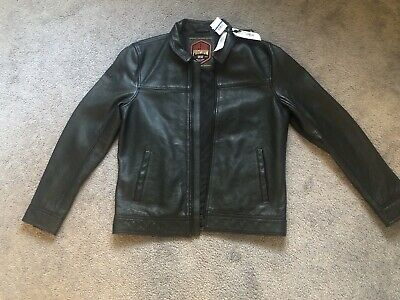 "New Superdry Curtis Leather Jacket Size: XL 42"" (107cm)"