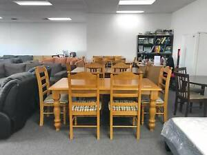 TODAY DELIVERY GREAT CONDITION 7 pcs WOODEN dining table & chairs