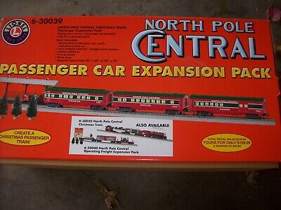 Lionel 6-30039 North Pole Central Christmas Train Expansion Set O Scale