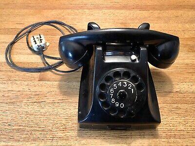 VINTAGE 1950'S PTT ERICSSON BLACK BAKELITE ROTARY PHONE