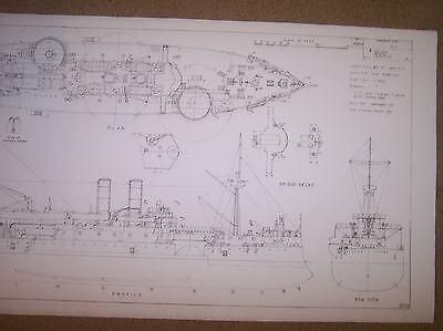USS MAINE ship plans