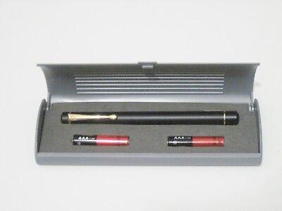 Atlasnova 635nm RED Laser Pointer Black with Gold Class IIIa <5mW.