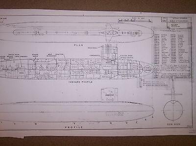 USS STURGEON ship plans