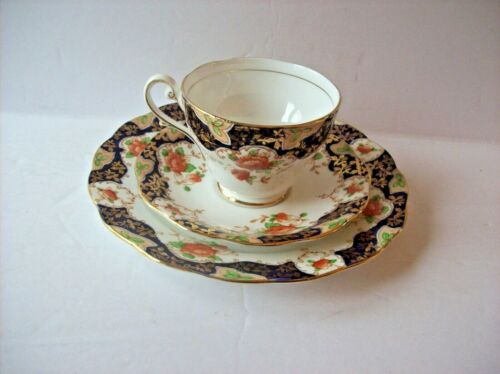 Vintage ROYAL STANDARD Fine Bone China #443 Footed Tea Cup, Saucer, Plate Cobalt
