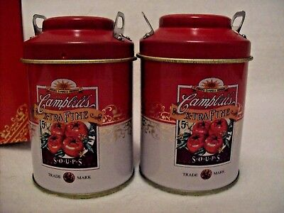 CAMPBELL'S SALT AND PEPPER TIN  VINTAGE GIFTCO NIB 3.5""