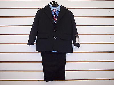 Infant/Toddler/Boys Nautica $79.50-$89.50 Black/Light Blue 4pc Suit Size 12m - 7