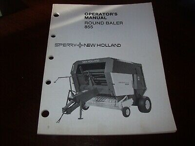 New Holland Round Baler 855 Operators Manual