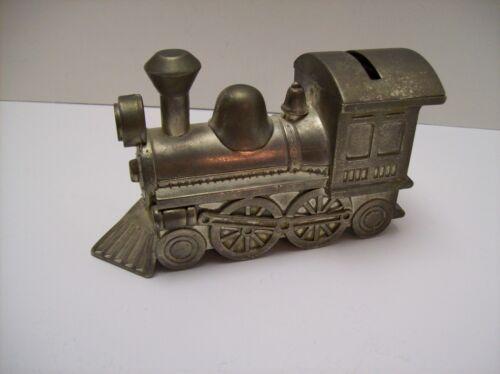 Vintage Metal Train Engine Bank