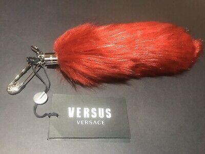 Versace Tail Charm Fake Fox Fur Safety Pin/Keyring.