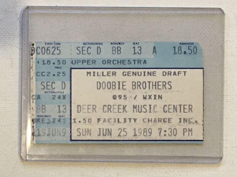 Doobie Brothers 1989 Concert Ticket Stub Reunion Tour Indianapolis