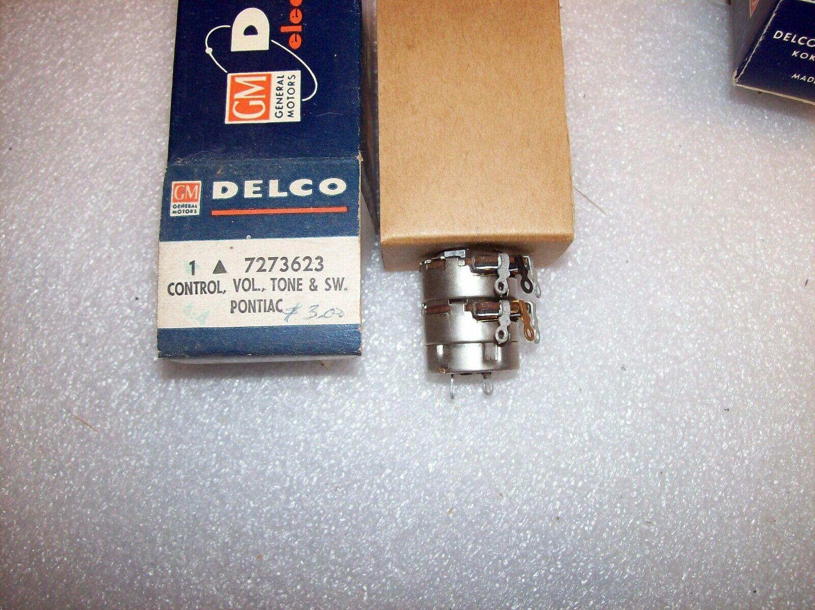+NOS GM Delco 7273623 Radio Control Volume Tone & Switch 1959 Pontiac 988976 977