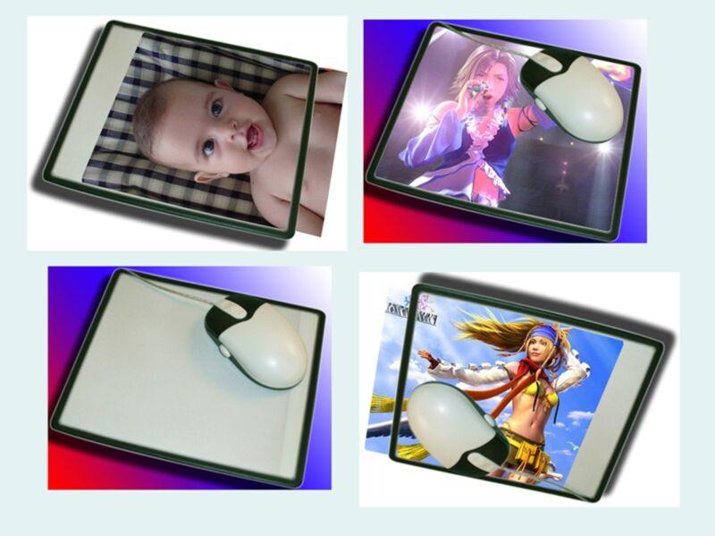 Lot of 50PCS BRAND NEW Custom Photo Insert Mousepad Mouse Mats